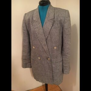 Black and white tweed blazer